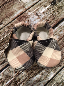 Black, Tan, & White Plaid (3-6 months)