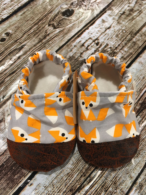 Gray- Foxes with Leather Toe (12-18 months)