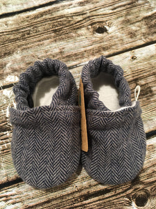 Navy Gray Herringbone (3-6 months)
