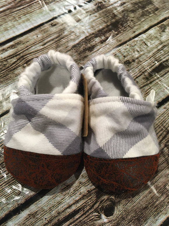 Gray and White Plaid (12-18 months)