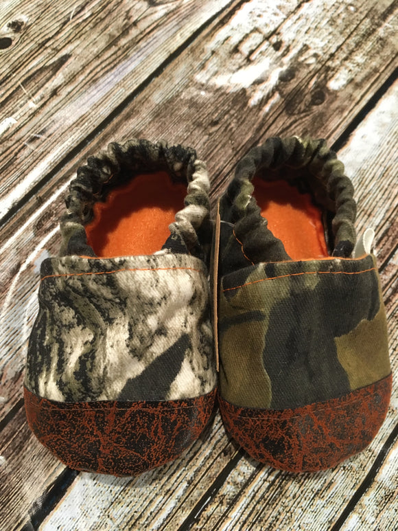 Camouflage with Leather Toe (9-12 months)