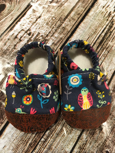Navy Garden with Leather Toe (9-12 months)