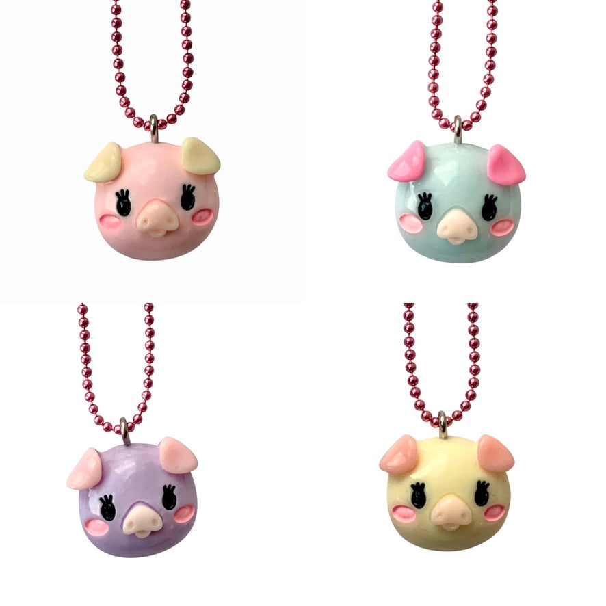 Pop Cutie Gacha Color Pig Necklaces