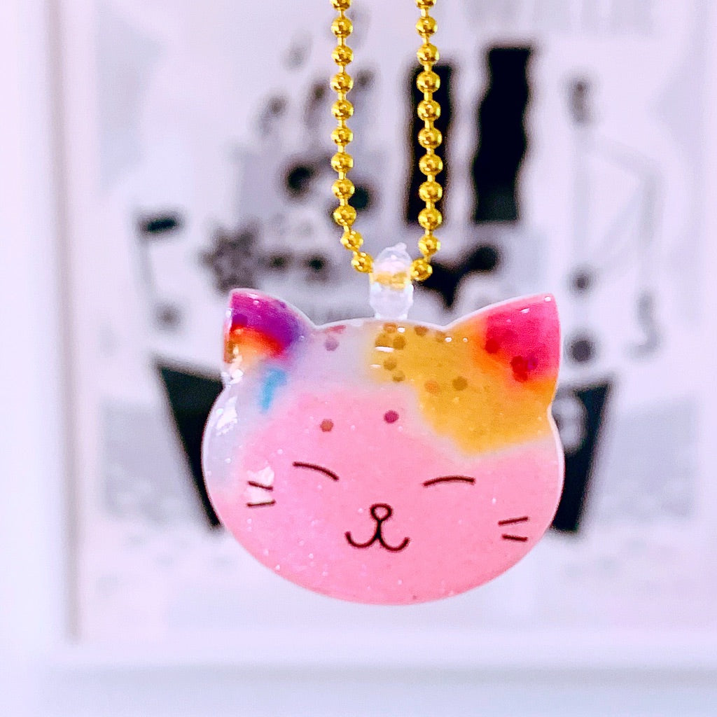 Ltd. Pop Cutie Glitter Cat Face Necklaces