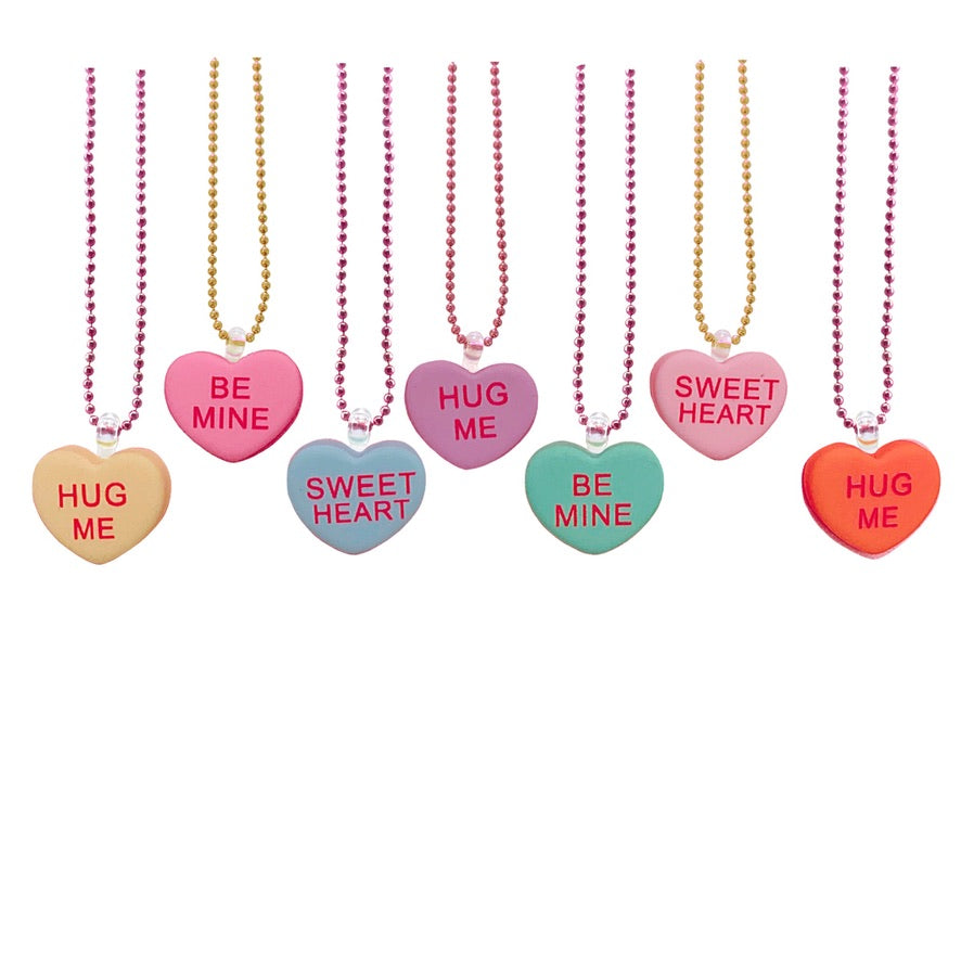 Pop Cutie Gacha Conversation Heart Necklaces