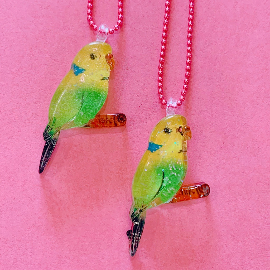 Ltd. Pop Cutie Glitter Bird Necklaces