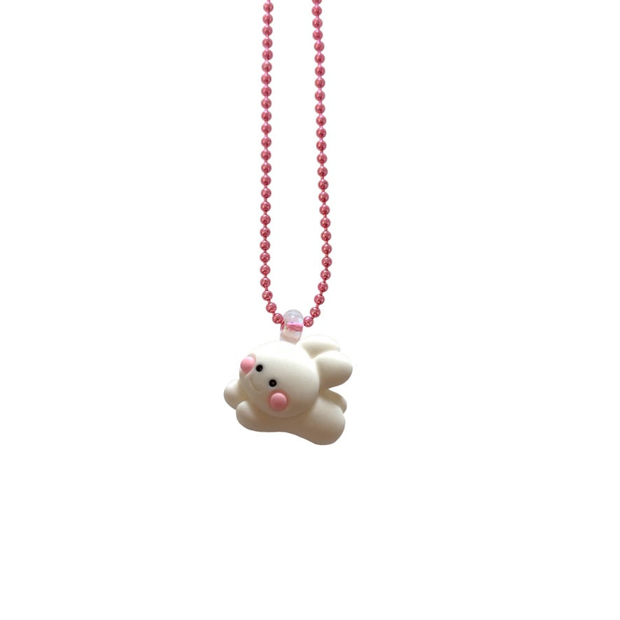 Pop Cutie Gacha Fluffy Bunny Necklaces