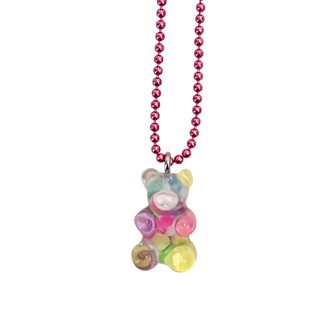 Pop Cutie Gacha Confetti Gummy Bear Necklaces