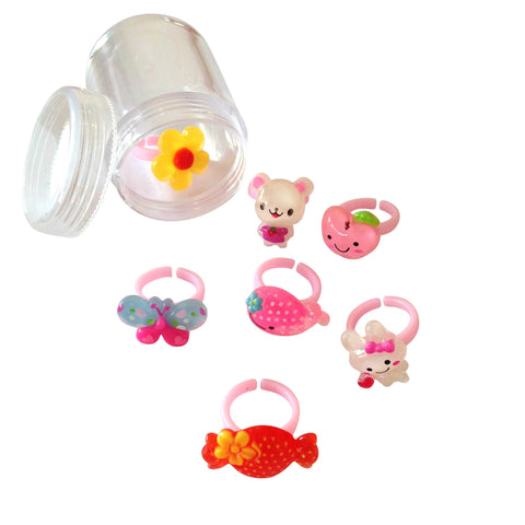 Pop Cutie Weekday Rings - set of 7 pcs