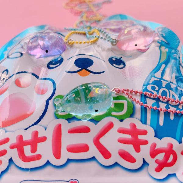 Pop Cutie Gacha  Glitter Whale Necklaces