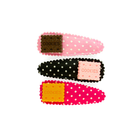 Pop Cutie Cookie Hair Clips