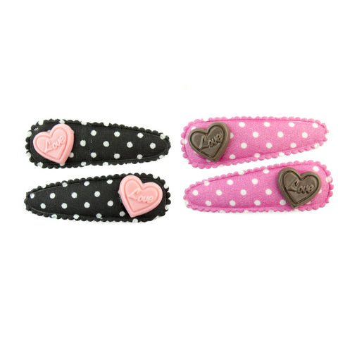 Pop Cutie Chocolate Hearts Hair Clips