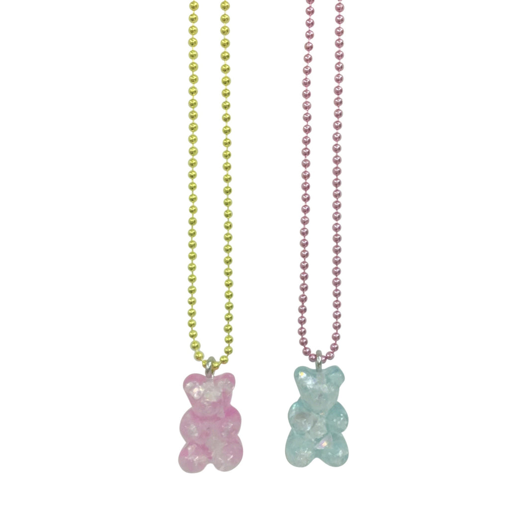 Pop Cutie Gacha Sparkle Gummy Bear Necklaces