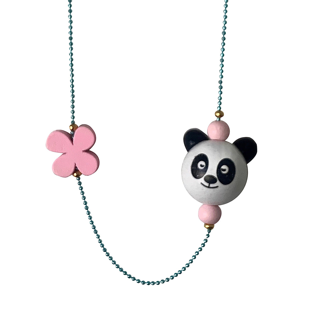 Pop Cutie ECO Panda Flower Necklace