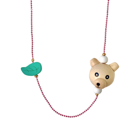 Pop Cutie ECO Bear Leaf Necklaces
