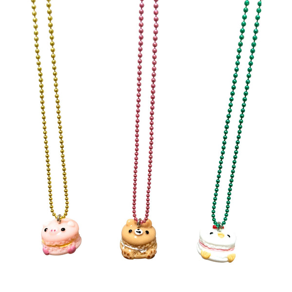 Pop Cutie Gacha Macaroon Animal Necklaces