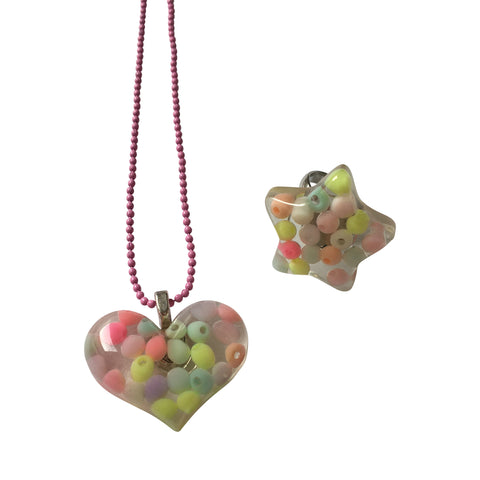 Pop Cutie Pastel Pearl Gift Set w/ Necklace + Ring