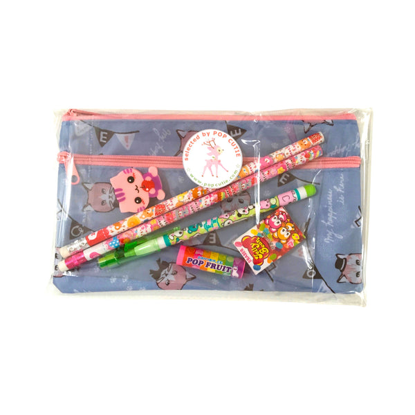 "Pop Cutie Japanese Pen Case Gift Set ""CATS"""