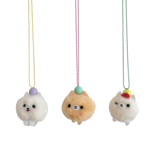 Ltd. Pop Cutie PomPom Puppy Necklaces