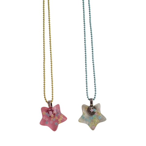 Ltd. Pop Cutie BFF Confetti Star Necklaces  - 2 in 1.