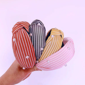 A POP LIFE Pearl Stripe Headband
