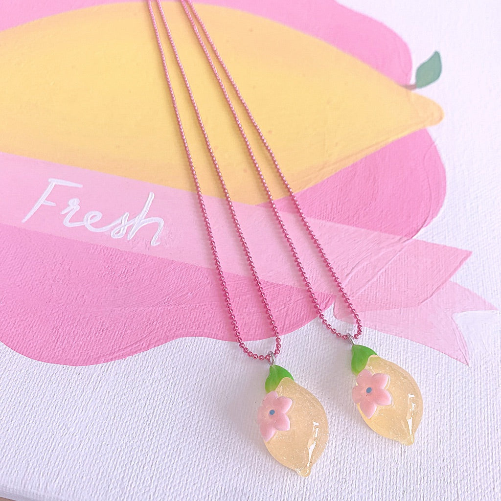 Pop Cutie Gacha Lemon Necklaces