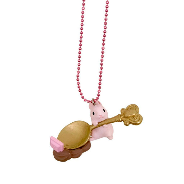 Ltd. Pop Cutie Chocolate Bunny Pink Necklaces