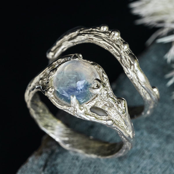 "Moonstone ring set ""Ariel"""
