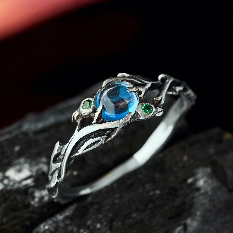 "Blue Topaz Ring ""Laguna"""