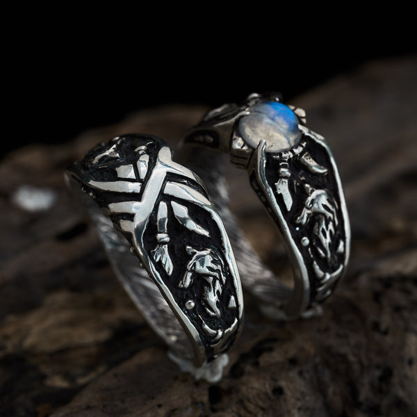 "Couple ring ""Wolves"""