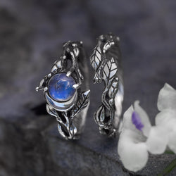 "Moonstone engagement rings set ""Luna"""