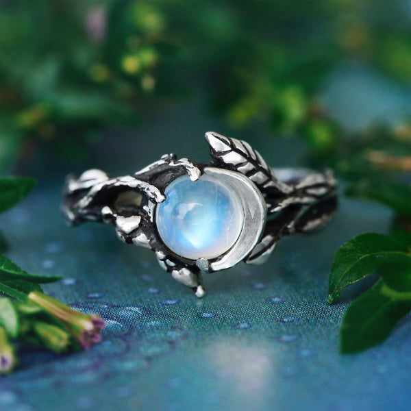 "Moonstone Lunar ring ""Luna"""