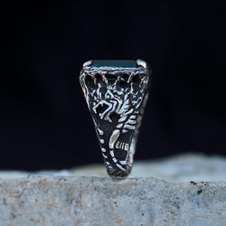 Dragon ring mens ring