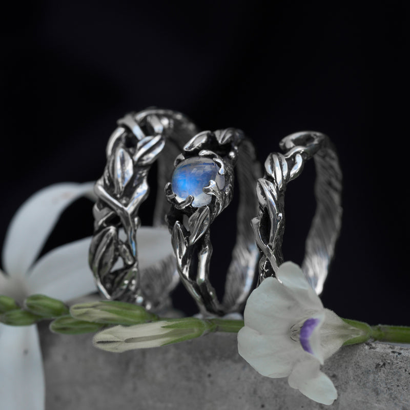 "Bridal rings set ""Louise"""