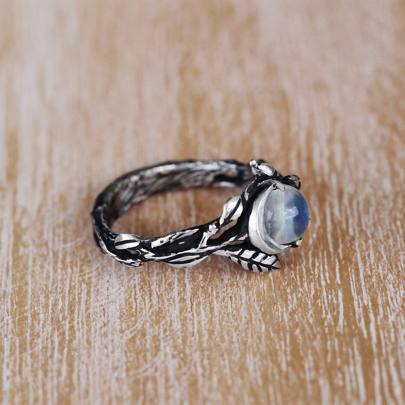 "Celestial Moonstone ring ""Luna"""