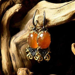 "Dangle and drop earrings ""Mongolian Veld"" - blacktreelab"