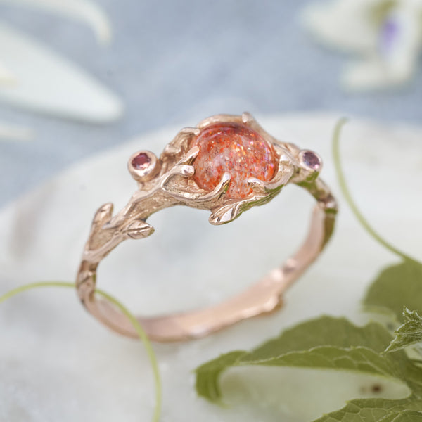 "14K Rose Gold Engagement Ring ""Grace"""