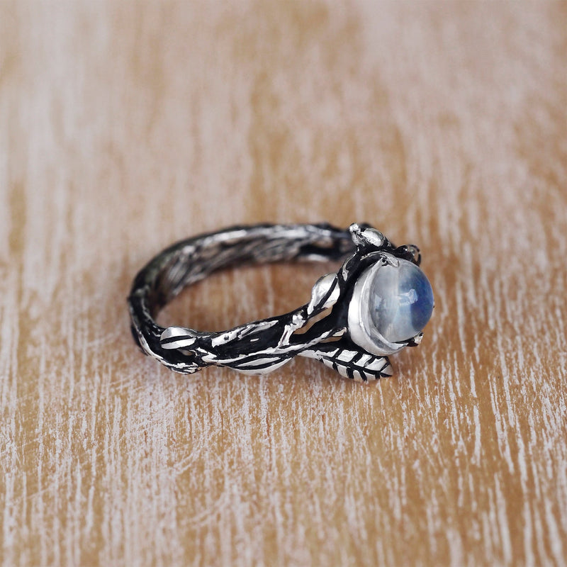 Engagement Moonstone ring Luna