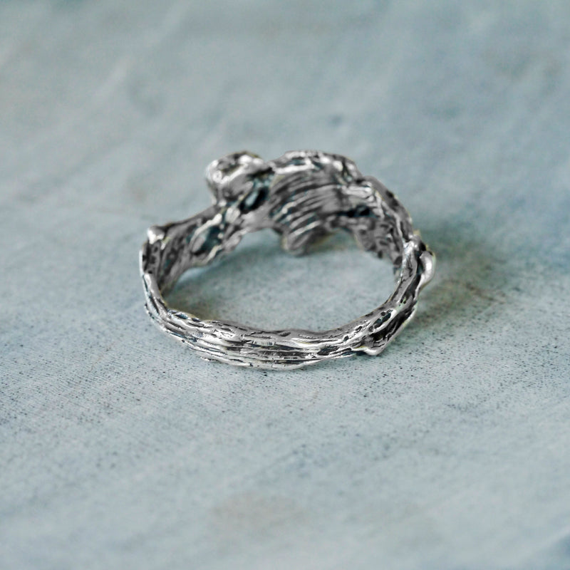 "Sterling Silver ring ""Angie"" from backside"