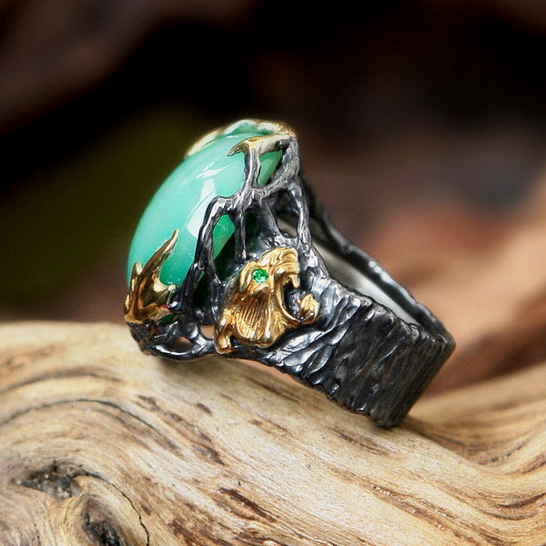 "Chrysoprase ring ""Myanma"""