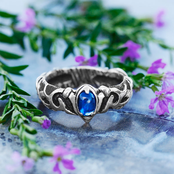 "Sterling Silver Kyanite Ring BlackTreeLab ""Alaya"""