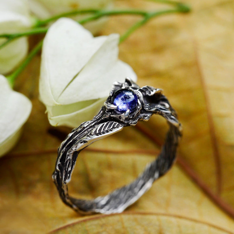"Lolite Engagement ring ""Florence"" - blacktreelab"