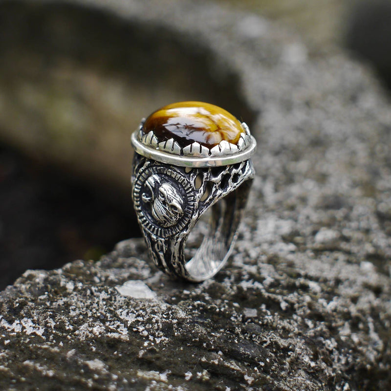 "Men's 925 Sterling Silver Tiger's Eye Ring ""Sumatra"" - blacktreelab"