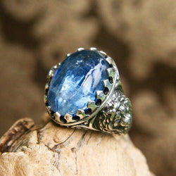 "Men's Sterling Silver Kyanite ring ""Majesty"" - blacktreelab"