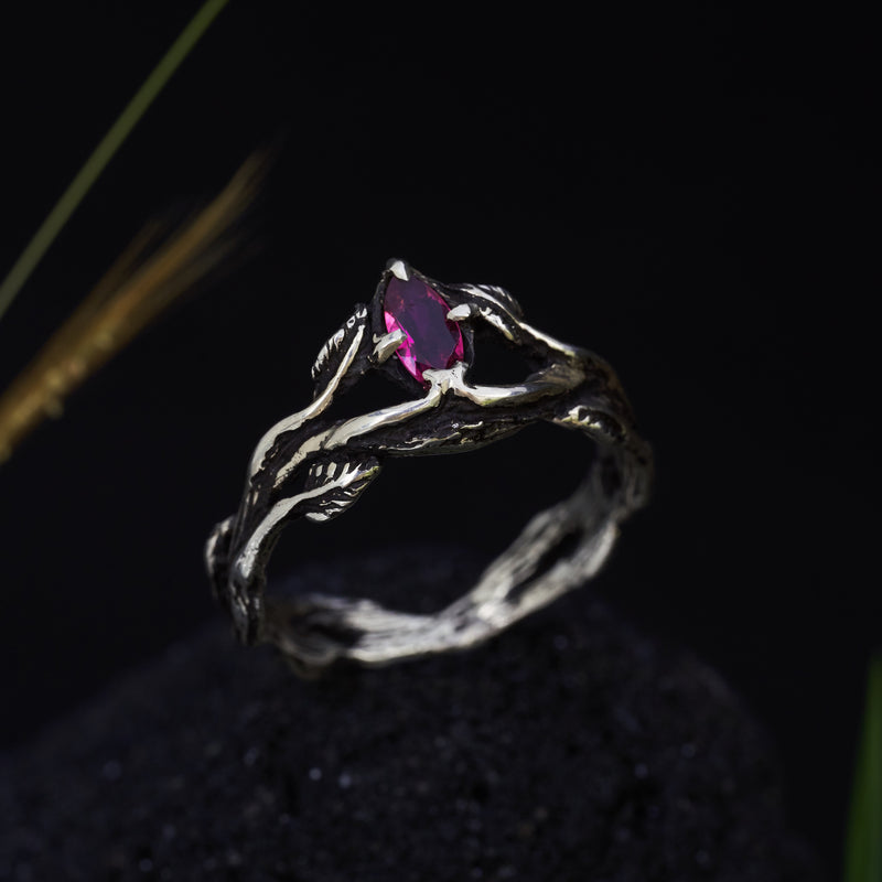 "Pink tourmaline ring ""Carmen"""