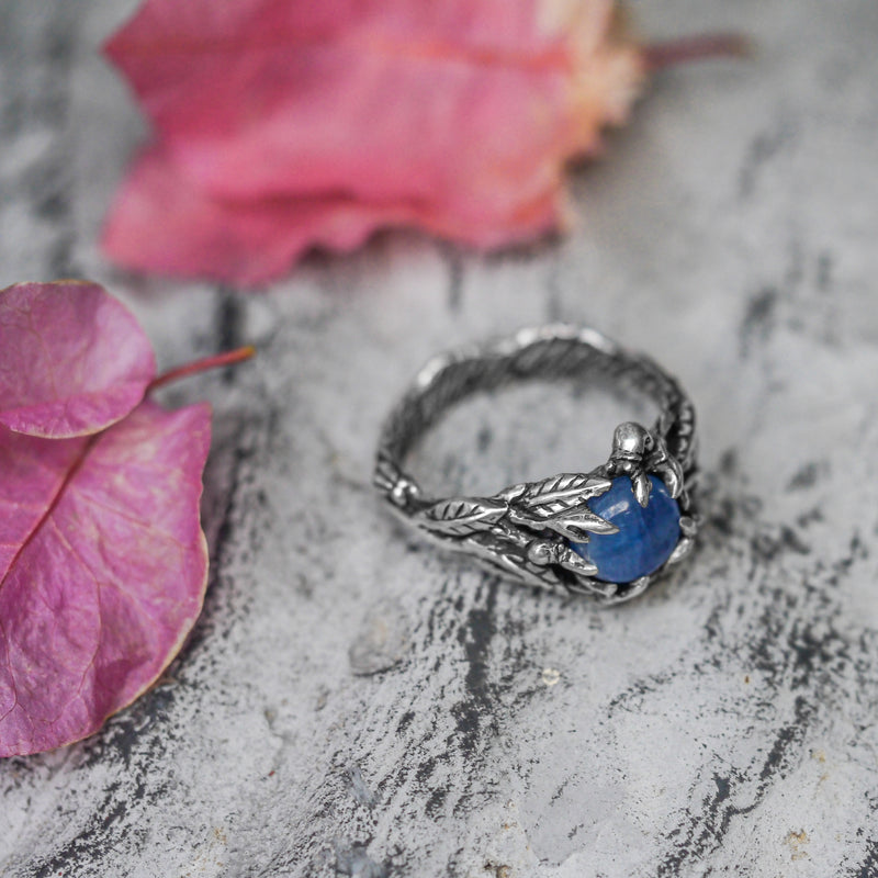 "Sterling Silver Kyanite Ring ""Indian Summer"" - blacktreelab"