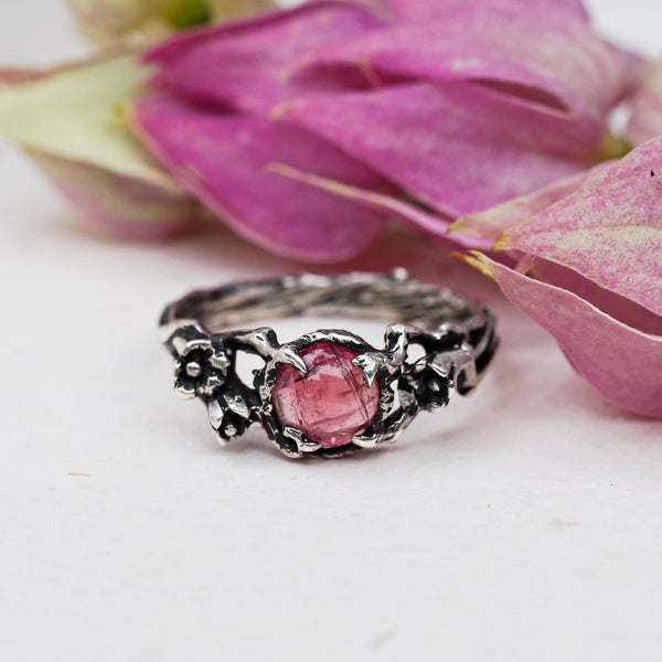 "Pink Tourmaline Engagement ring ""Amelie"" - blacktreelab"