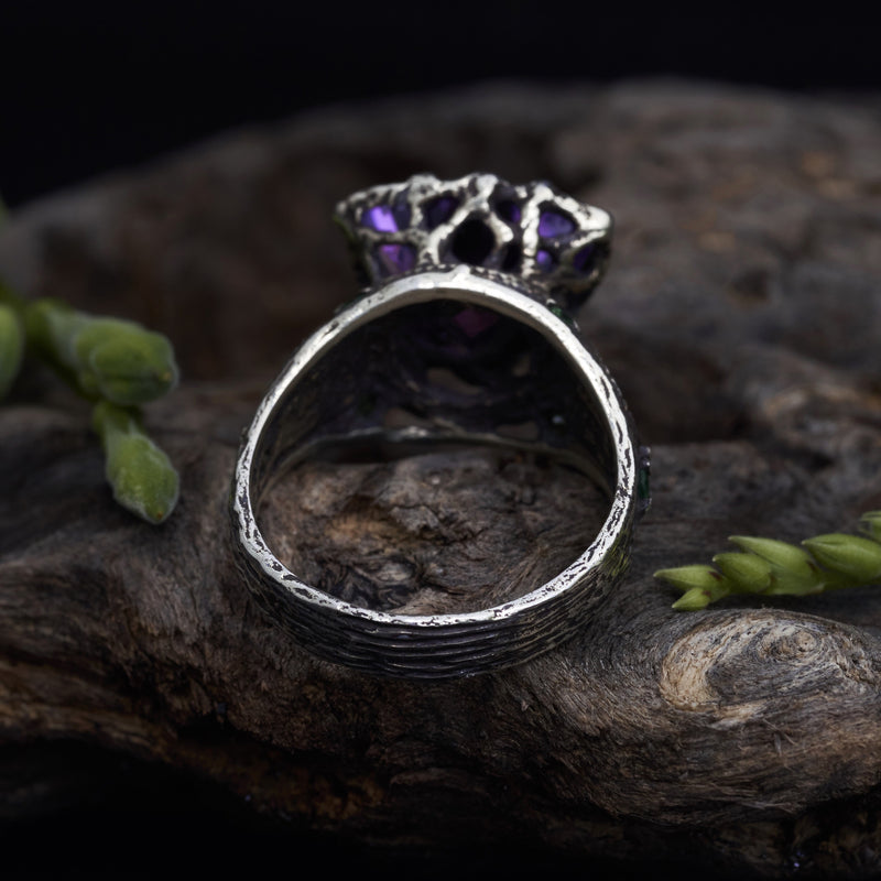 "North Mythology Ring with Amethyst ""Portal"""