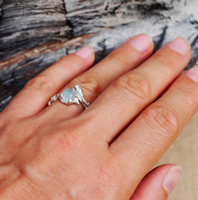 "Sterling Silver Aquamarine Ring ""Isa"" - blacktreelab"