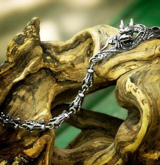 "Sterling Silver Bracelet ""Dragon"" - blacktreelab"